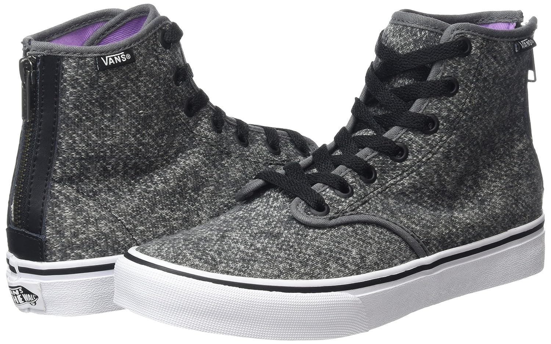 679fd2bacb Vans Women s Camden Zipper Back Hi-top Sneakers Grey (Tweed Black) 7 UK   Buy Online at Low Prices in India - Amazon.in