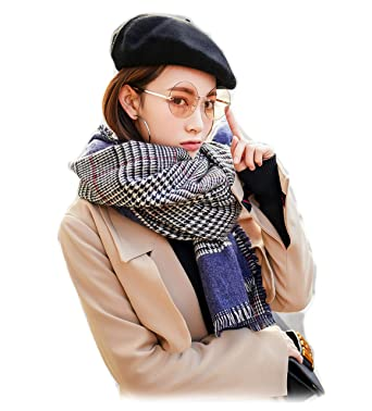 57e0e72f821 Femme Fille Pied de Poule Tartan carreaux plaid Extra Longue Très Épais  Écharpe Wrap Châles Etole