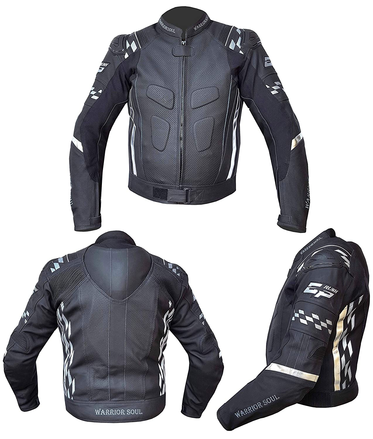 953f0b146 Warrior RUSH GP Motorcycle Motorbike Leather CE Armour Professional ...