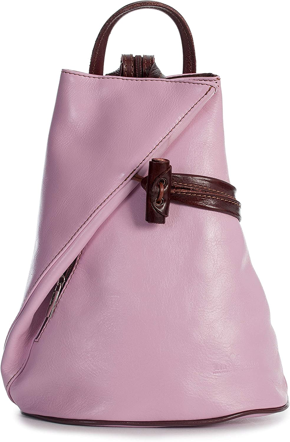 LIATALIA Italian Leather Backpack Shoulder Bag with Sling Convertible Strap in Medium Large Size - BRADY