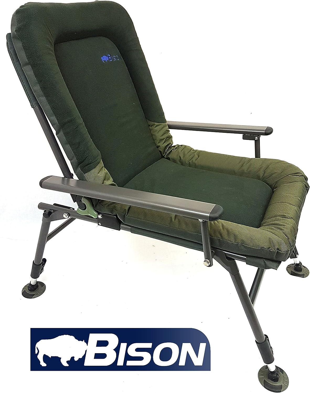 Bison Polaire Confort Chaise de camping p/êche /à la carpe