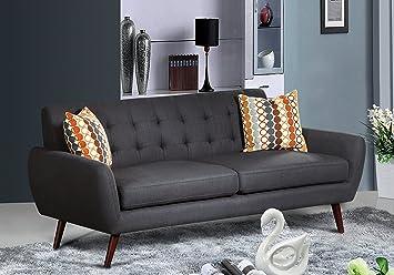 Amazon.com: U.S. Livings Coraline Mid Century Living Room Sofa (Gray ...