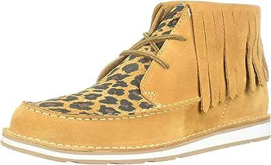 Ariat Women's Cruiser Fringe Sneaker, Dark Tan/Tan Leopard Print, 9.5 B US