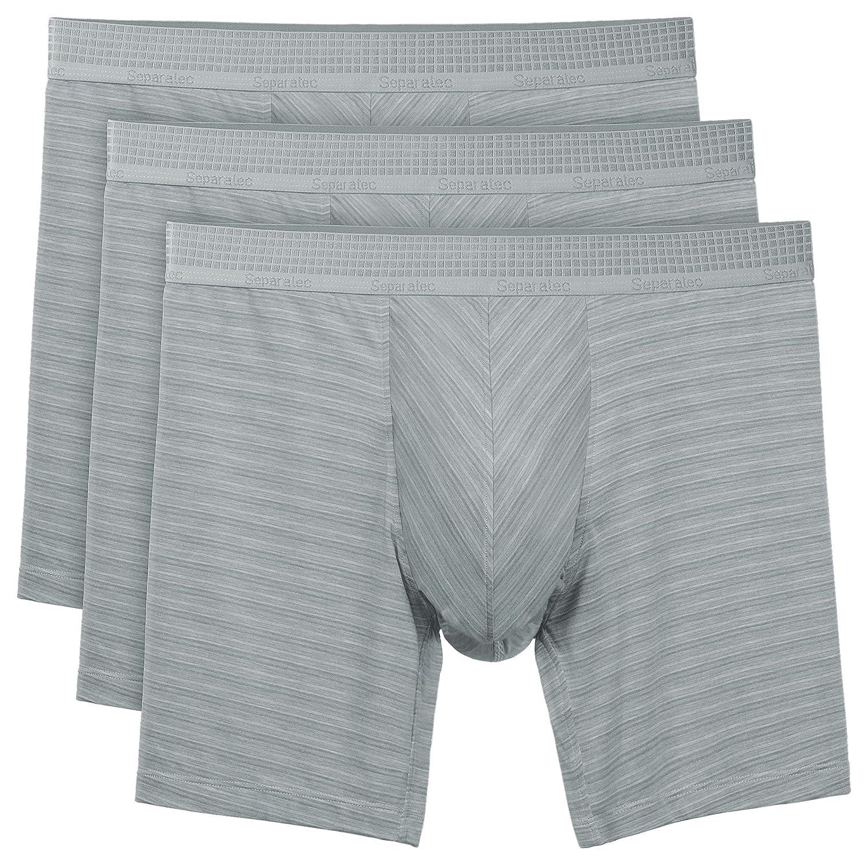 Separatec Bóxer para Hombre, Ropa Interior Masculina de Micro Modal con Bolsillos Separados, Súper Suave, Pack de 3