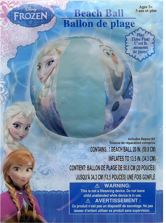 Disney Frozen Elsa, Anna and Olaf Inflatable Beach Ball - 20 inch