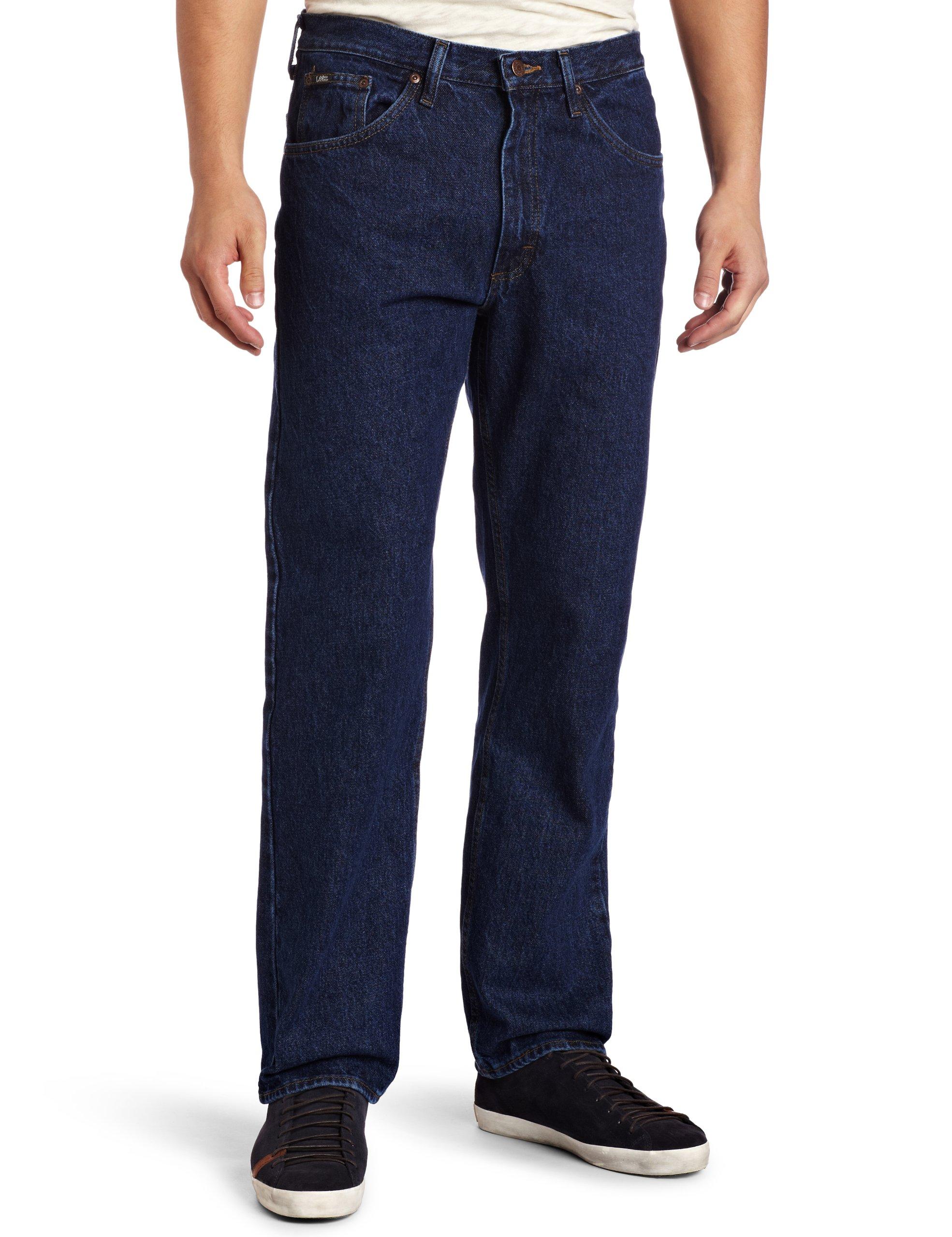 Lee Men's Regular Fit Straight Leg Jean, Dark Stone, 33W x 29L