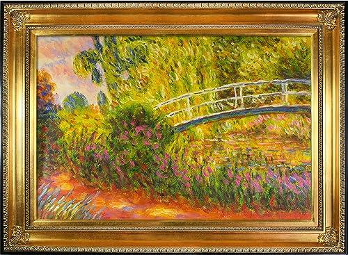 overstockArt Mon2660-Fr-650G24X36 Monet The Japanese Bridge with Regency Gold Frame, Gold Finish