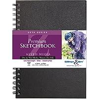Stillman & Birn Zeta Wirebound Sketchbook, Heavyweight 180lb, Natural White, 25 Sheets, 7x10