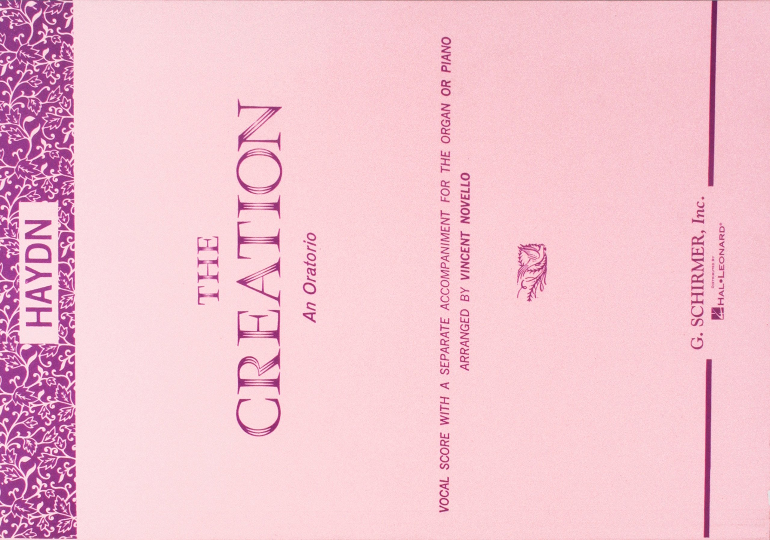 Creation an Oratorio Haydn: Franz Josef Haydn, Vincent Novello:  0073999238600: Amazon.com: Books