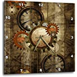 3D Rose Dpp_251909_1 3dRose Steampunk In Noble Design Gears Wall Clock  10 Inch (