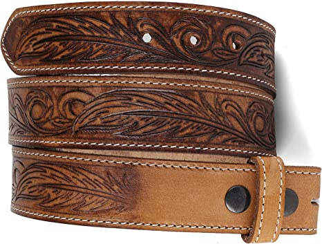 Two Tooled Stamped Design Belt