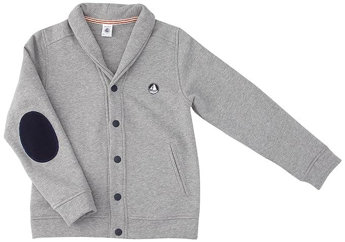 Petit Bateau - Abrigo con Cuello Barco para niño, Talla Taille Fabricant : 6 ANS