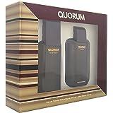 Puig Quorum Eau De Toilette 100ml Spray with Aftershave Gift Set