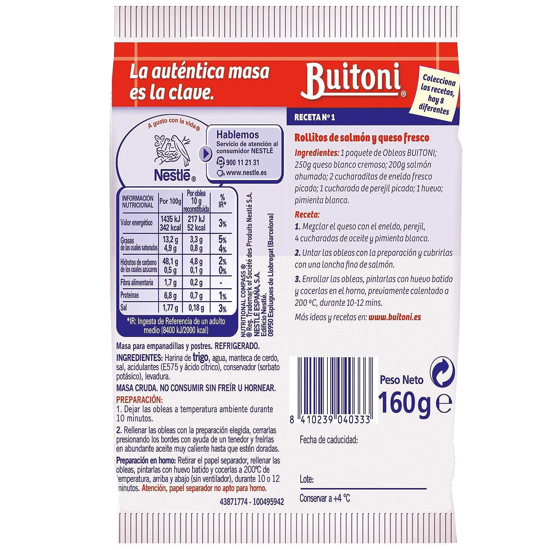 Buitoni La Cocinera, Masa para Empanadillas y Postres, 16 obleas - 280 g