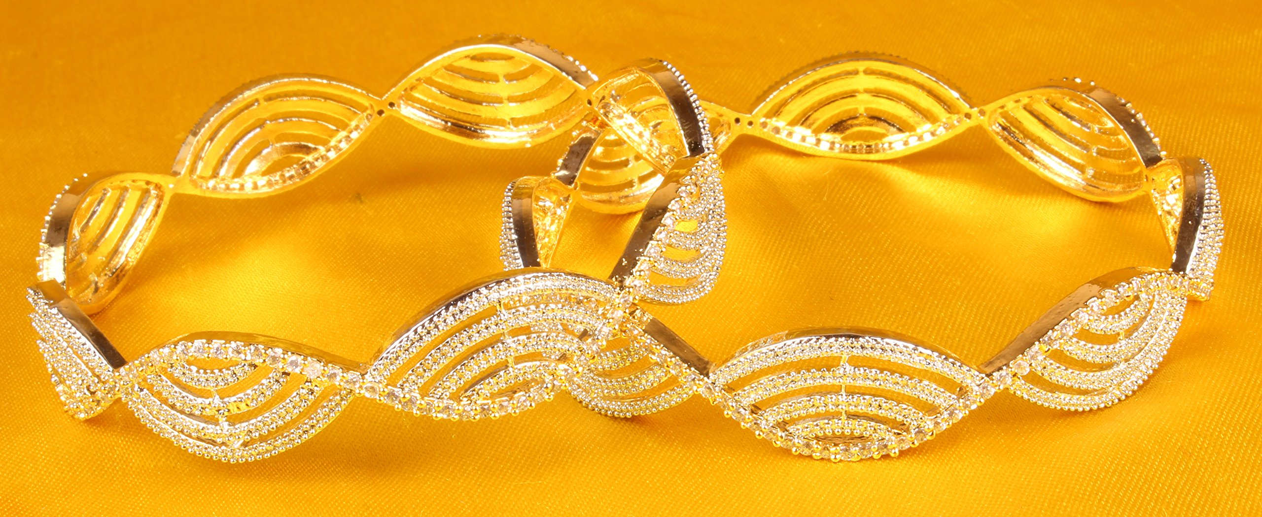 Ethnic Traditional Bollywood Style Gold Tone Indian Bangle Jewelry by Shiv_Collection (Image #3)