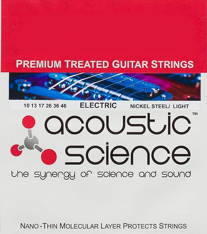 Acústica ciencia Premium tratada cuerdas para guitarra eléctrica de acero de níquel - la mejor guitarra accesorio para mantenerte sonido excelente y ...