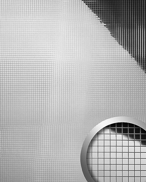 Wandpaneel Wandverkleidung WallFace 10657 M Style Design Tapete Metall Dekor  Selbstklebend Spiegelnd Silber   0