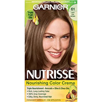 Amazon.com: Garnier Nutrisse Nourishing Hair Color Creme, 61 Light ...
