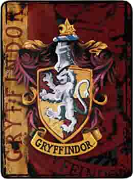 Harry Potter Icons Red /& Navy 46 x 60 Microfiber Throw Blanket New