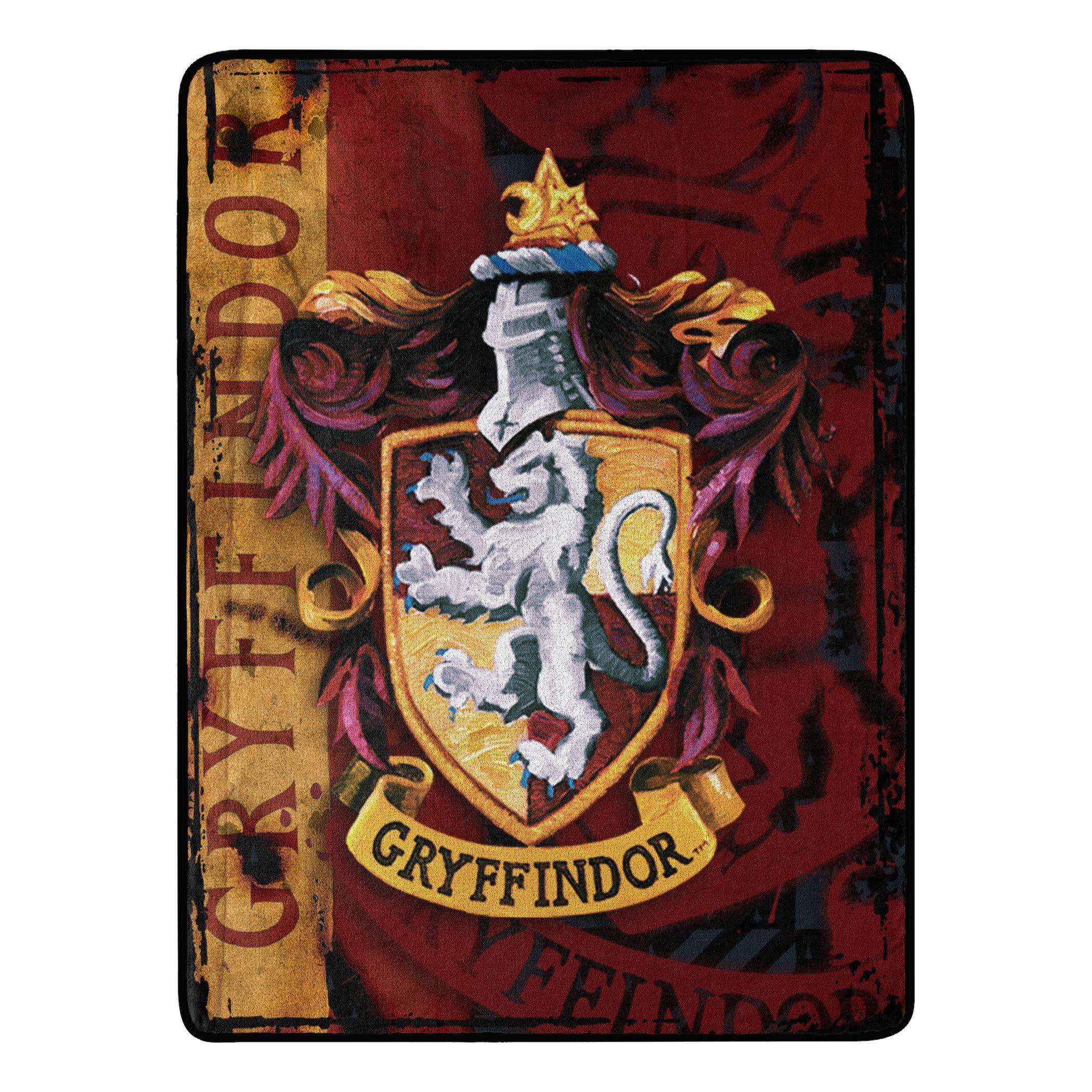 Harry Potter, Battle Flag Micro Raschel Throw Blanket, 46″ x 60″, M