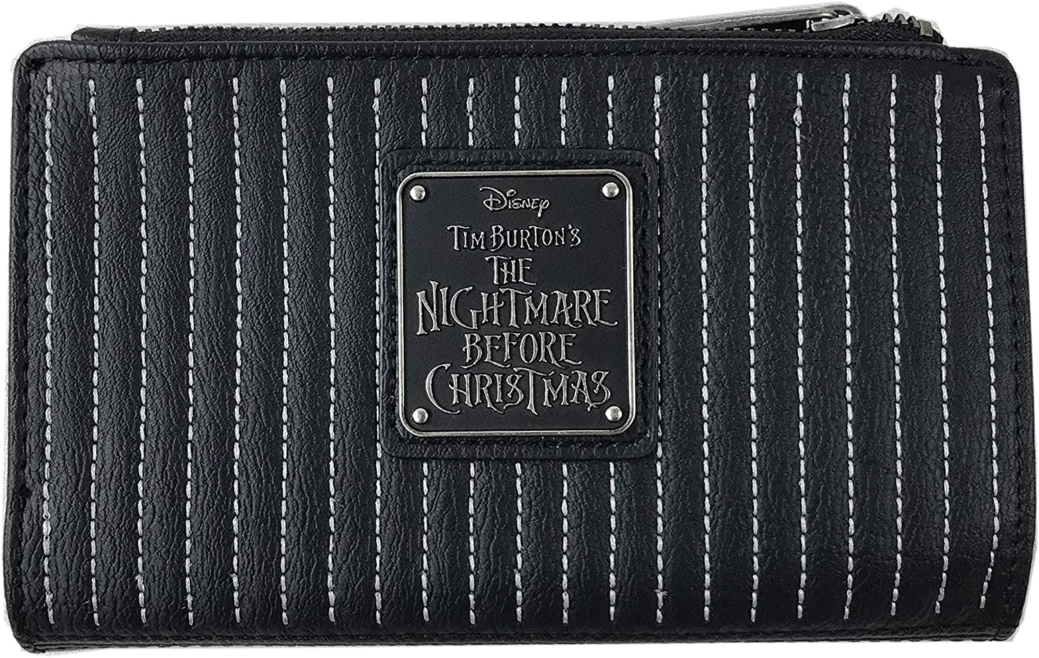 Loungefly x Nightmare Before Christmas Jack Skellington Studded Top Zip Bi-Fold Wallet