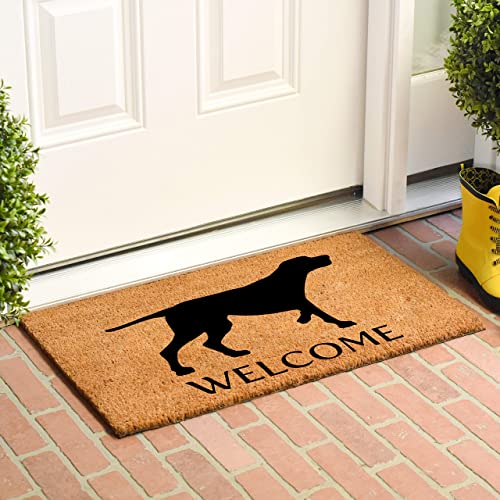 Calloway Mills AZ105542436 Pointer German Shorthaired Doormat, 24 x 36 , Natural Black