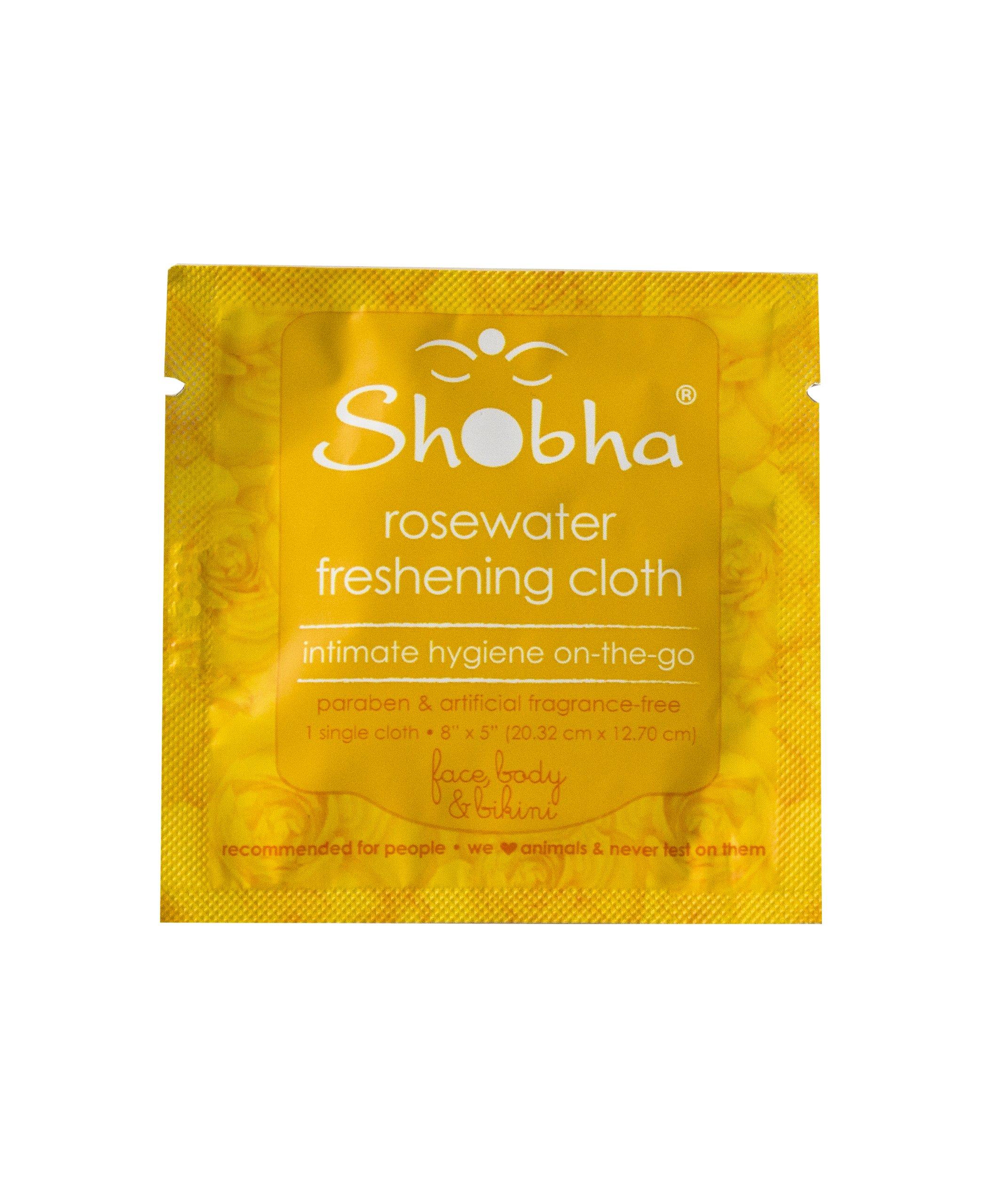 Shobha Rosewater Freshening Cloth - Single