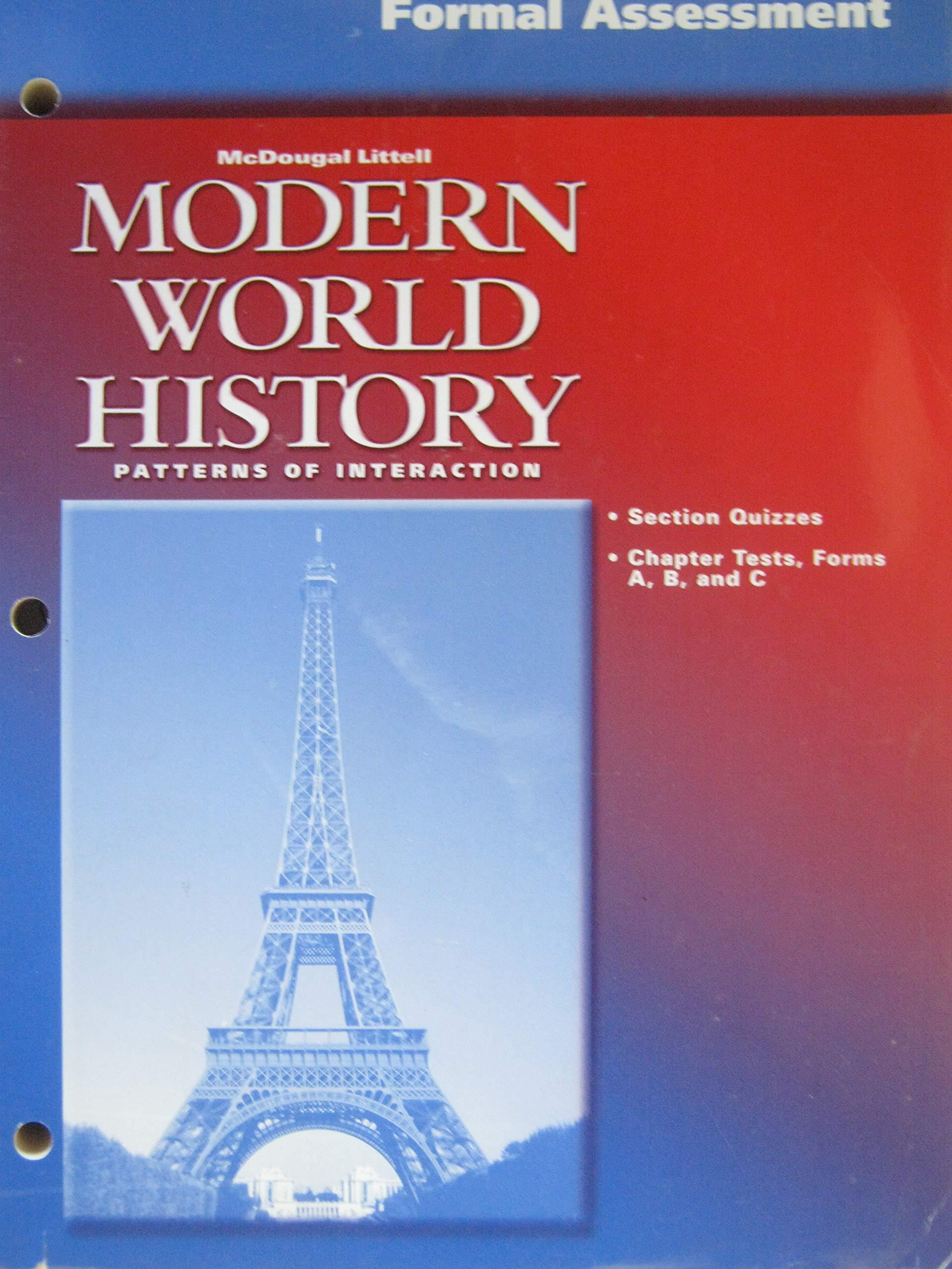 Formal Assessment Modern world History Patterns of ...