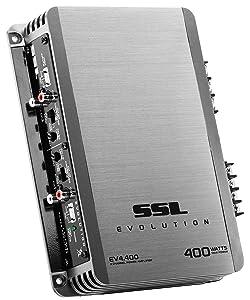 Sound Storm EV4.400 Evolution 400 Watt, 4 Channel, 2 to 8 Ohm Stable Class A/B, Full Range Car Amplifier