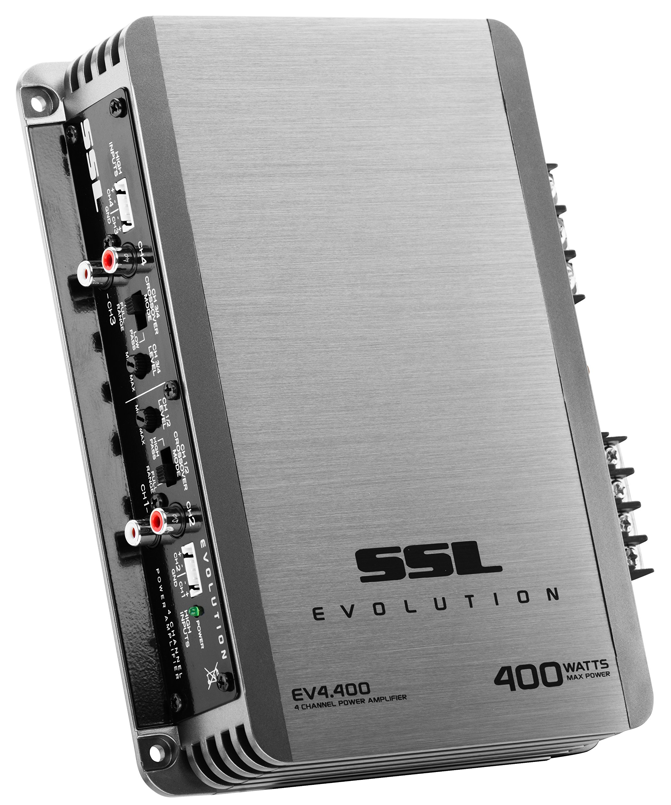 Sound Storm EV4.400 Evolution 400 Watt, 4 Channel, 2 to 8 Ohm Stable Class A/B, Full Range Car Amplifier