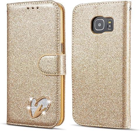 Qltypri Samsung Galaxy S10 Hülle Glitzer Handyhülle Pu Elektronik