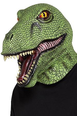 Smiffy s – Máscara de látex de 48960 dinosaurio, – Maletín, Verde,