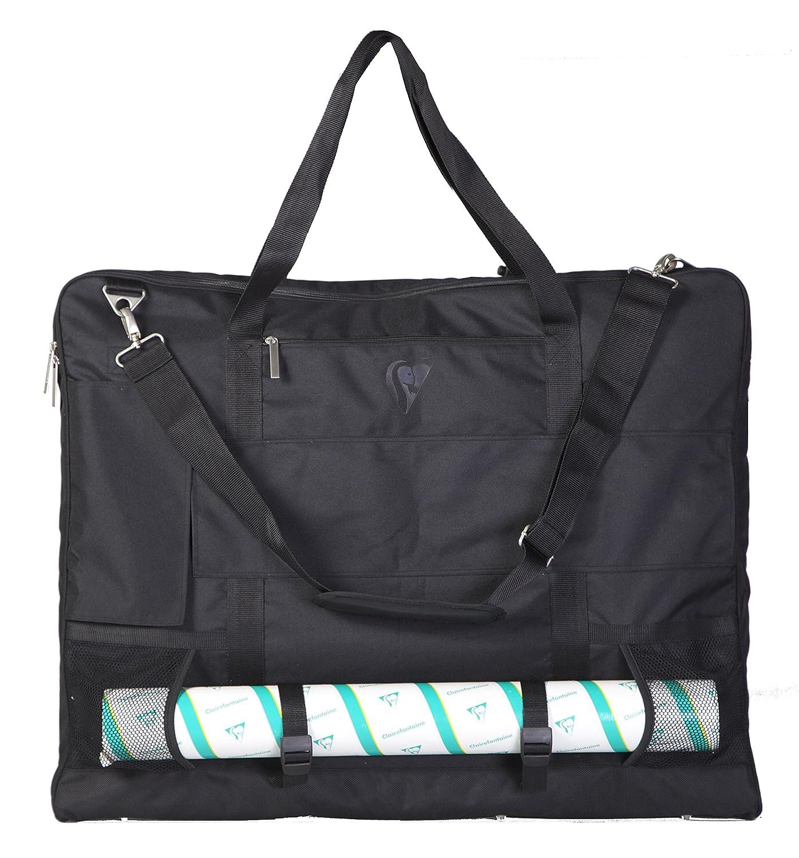 schwarz Clairefontaine 90130C Transporttasche von Zeichenmappen 59 x 75 cm, ideal zum Transport Ihrer Kunstwerke, Polyamid