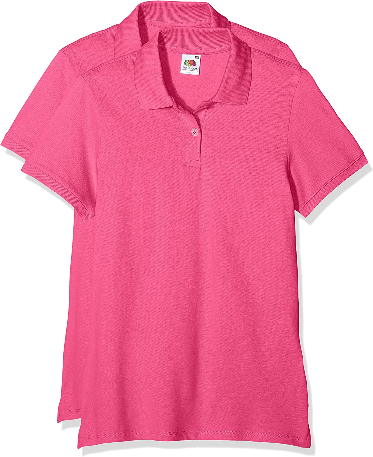 Fruit of the Loom Lady Fit Polo Blusa, Fuchsia, XS para Mujer ...
