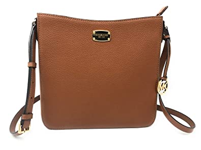 601c5cfc82ab65 Image Unavailable. Image not available for. Color: Michael Kors Women's Jet  Set Travel Large Crossbody Messenger Leather Luggage