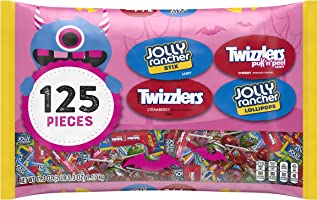 HERSHEY'S Halloween Candy Assortment, JOLLY RANCHERS and TWIZZLERS, 125 Pieces, 41.3 Oz