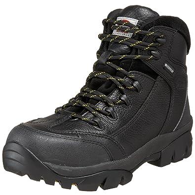 Avenger 7245 Leather Waterproof Comp Toe No Exposed Metal EH Work Boot ,Black,7