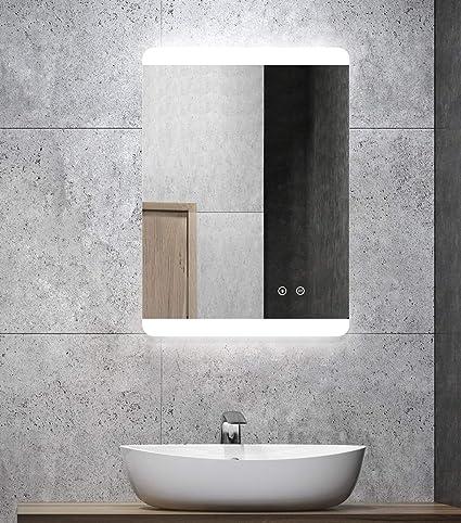 alldrei cuarto de baño espejo con iluminación lateral ...