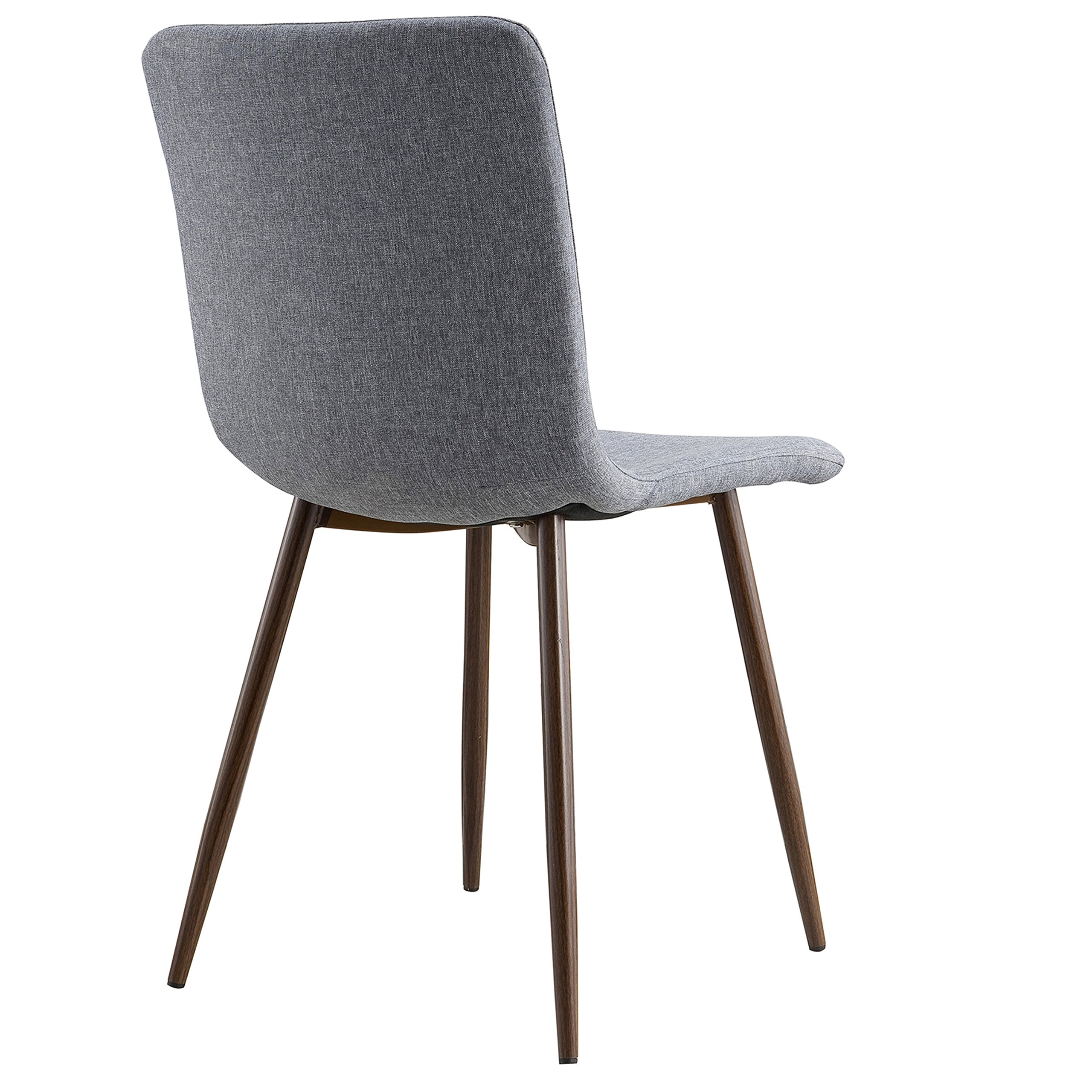 POLY & BARK EM-287-GRY-X4-A Wadsworth Dining Chair with Walnut Legs, Set of 4, by POLY & BARK (Image #5)