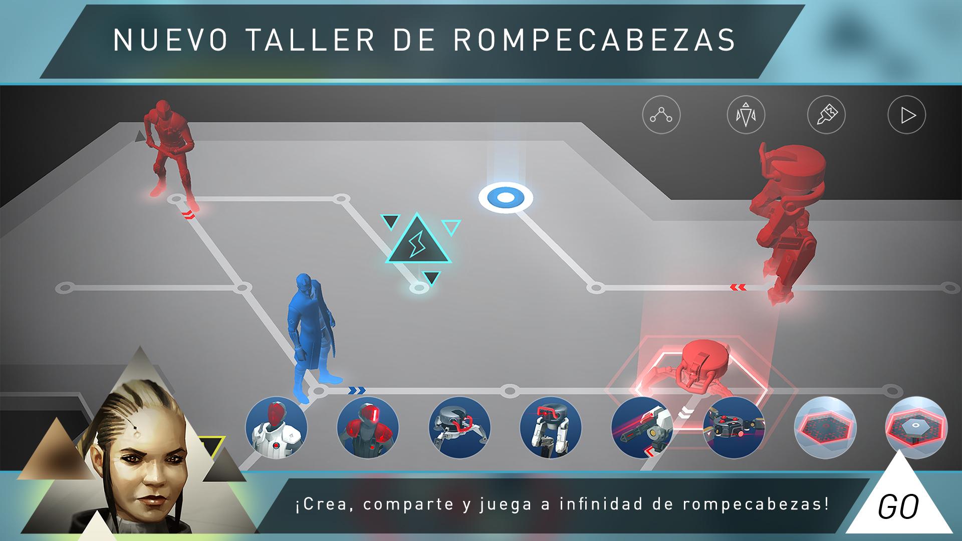 Deus Ex GO - Desafío de rompecabezas Screenshot