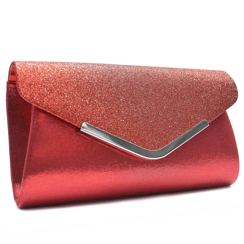 Vain Secrets Damen Handtasche Umhänge Tasche Clutch Abendtaschen in vielen Farben Champagne) VS6030CM