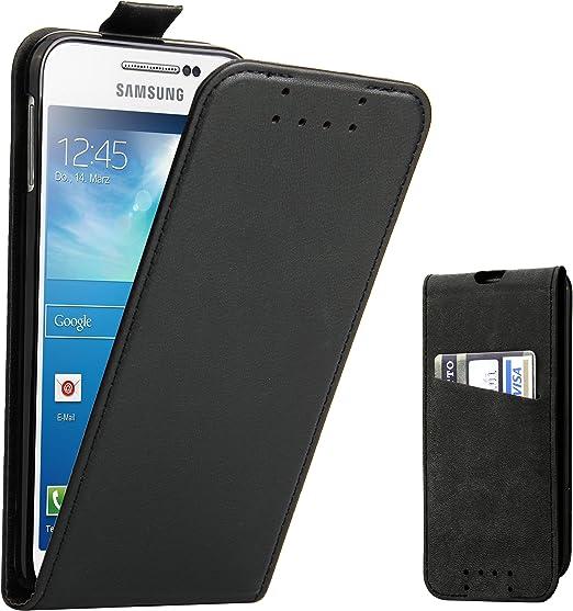 Supad Funda Galaxy S4, Funda para Samsung Galaxy S4 Flip Case para móvil en Cuero sintético (Negro): Amazon.es: Jardín