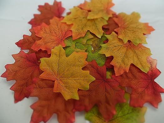 100 autumnmaple silk leaves multi colouredweddingdecoration 100 autumnmaple silk leaves multi colouredweddingdecoration junglespirit Gallery