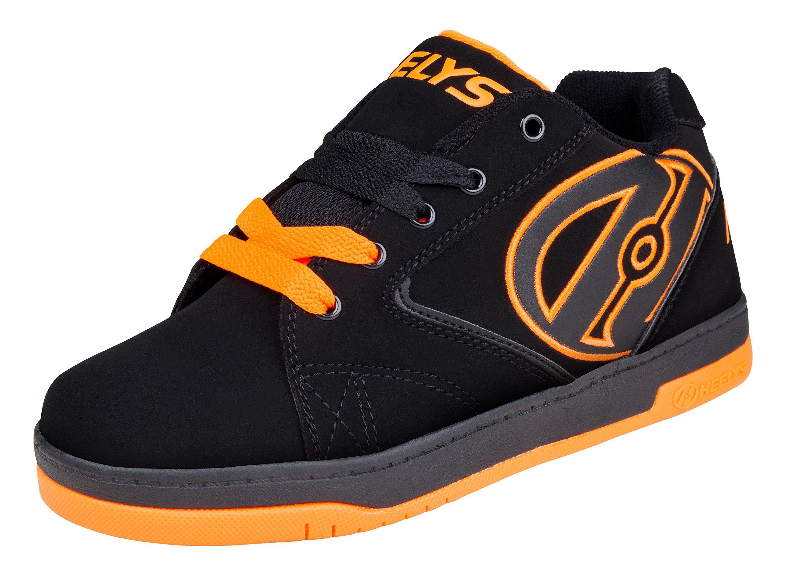 Heelys Propel Skate Shoe (Little Kid/Big Kid), Black/Orange, 6 M US Big Kid