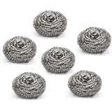 Cello Stainless Steel Kleeno Small Scrub Pad (Silver, Set of 6)