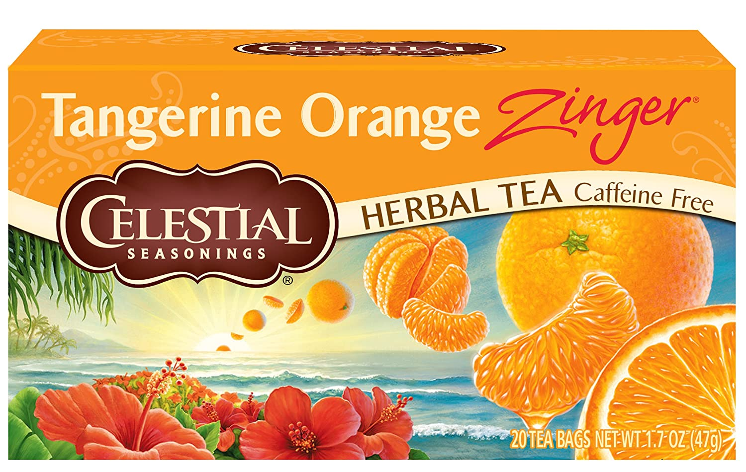 Celestial Seasonings Herbal Tea, Tangerine Orange Zinger, 20 Count Box
