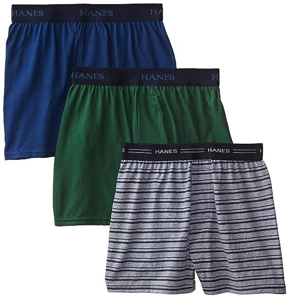 092b635c06d8 Hanes Boys' 3 Pack Ultimate Comfort Flex Solid Knit Boxer, Assorted, ...