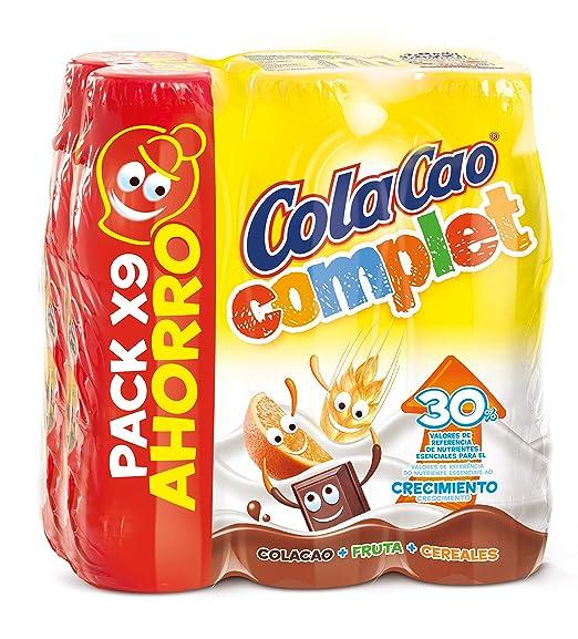 Cola Cao Complet Bebida con Leche - Paquete de 9 x 188 ml - Total: