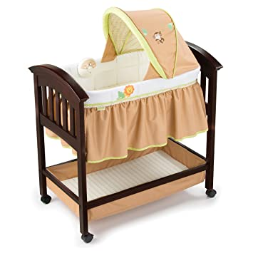 Summer Classic Comfort Wood Bassinet Swingin Safari