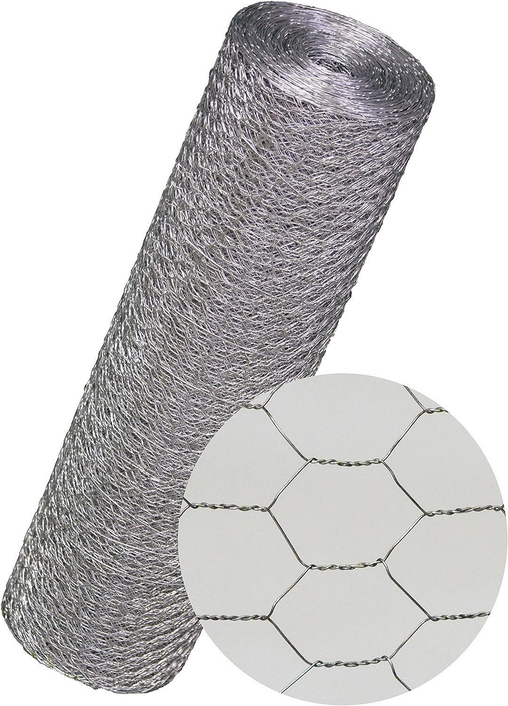 Maschendrahtzaun Kaninchendraht K/ükendraht Hasendraht VERZINKT Draht 30-100 cm H/öhe Sechseckgeflecht Sechseckdraht Maschweite: 25 mm H/öhe: 750 mm